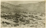 Photograph of a panoramic view of Rhyolite and the Bullfrog Hills, Rhyolite (Nev.), September, 1909