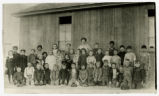 Photograph of students and teachers outside a schoolhouse, Las Vegas (Nev.), 1900-1925