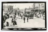 Photograph of the International Brotherhood of Electrical Workers' parade float, Tonopah (Nev.),...