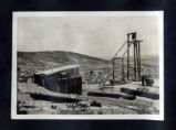 Photograph of the engine house and headframe at the Yellowjacket Mine, Pioneer (Nev.), 1913