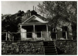 Photograph of a house built by William C. Browne featuring the first indoor bathroom in Pioche,...