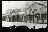 Photograph of the General Merchandise store in winter, Pioche (Nev.), 1900-1925