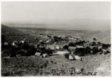 Photograph of a  view of Pioche and August 10th smelter, Pioche (Nev.), 1900-1925
