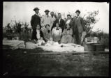 Photograph of people posing at a picnic, Pioche (Nev.), 1900-1925