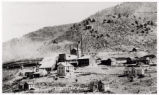 Photograph of  the Delamar reduction works, Delamar (Nev.), 1900-1925