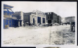 Photograph of a  construction of Goldfield News building and Goldfield Hotel, Goldfield (Nev.),...