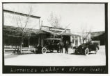 Photograph of autos parked in downtown, Beatty (Nev.), early 1900s