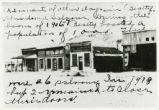 Photograph of abandoned saloons and bars, Beatty (Nev.), 1918