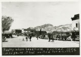 Photograph of pedestrians and traffic in downtown, Beatty (Nev.), 1926