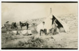 Photograph of Railroad survey camp between Caliente and Las Vegas (Nev.), 1904