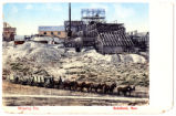 Postcard of teams hauling ore, Goldfield (Nev.), 1900-1925