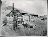 Photograph of house made of barrels, Tonopah (Nev.), early 1900s