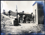 Photograph of people panning ore at mining camp, Goldfield (Nev.), early 1900s