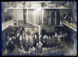 Photograph of brokers at the Goldfield Stock Exchange, Goldfield (Nev.), February 29, 1908