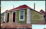 Postcard of a house made of glass bottles, Tonopah, (Nev.), 1900-1920