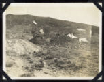 Photograph of a hillside in Round Mountain (Nev.), early 1900s