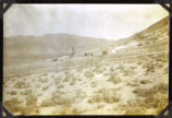 Photograph of Round Mountain mining camp (Nev.), early 1900s