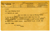 Coded telegram from E. E. Calvin to A. S. Halsted, August 14, 1922