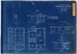Blueprint of S.P., L.A. & S. L. Railroad employees' four room cottages, July, 1909