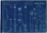 Blueprint of S.P., L.A. & S.L. Railroad  employees' four and five room cottages, showing...