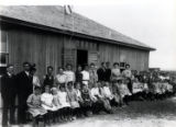 Photograph of students and teachers outside of a school, Las Vegas (Nev.), 1900-1925