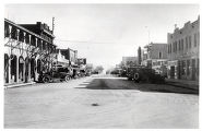Photograph of Fremont Street, buildings, and automobiles, Las Vegas (Nev.), 1900-1925