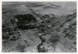 Aerial photograph of McWilliams' Original Las Vegas Townsite and Clark's Las Vegas Townsite, Las...