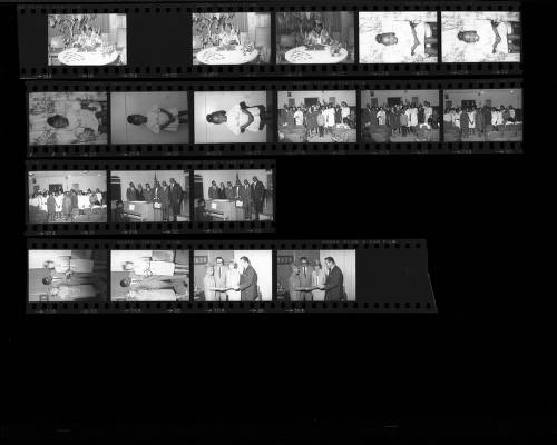Set of negatives by Clinton Wright including a program at